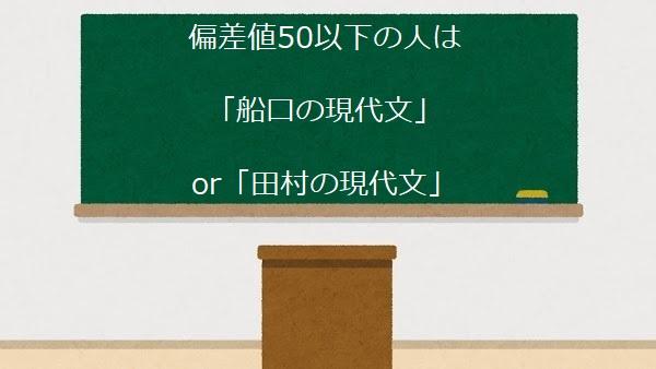 偏差値50以下の人は 「船口の現代文」 Or 「田村の現代文」