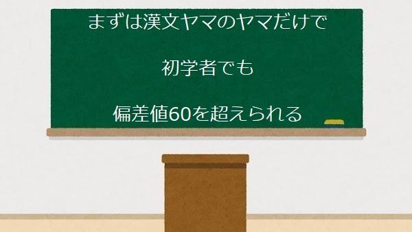 まずは漢文ヤマのヤマだけで 初学者でも 偏差値60を超えられる