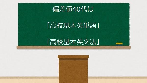 偏差値40代は 「高校基本英単語」・「高校基本英文法」