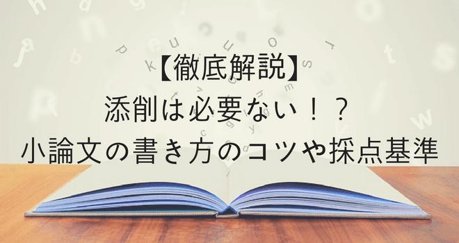 【徹底解説】添削は必要ない!?小論文の書き方のコツや採点基準