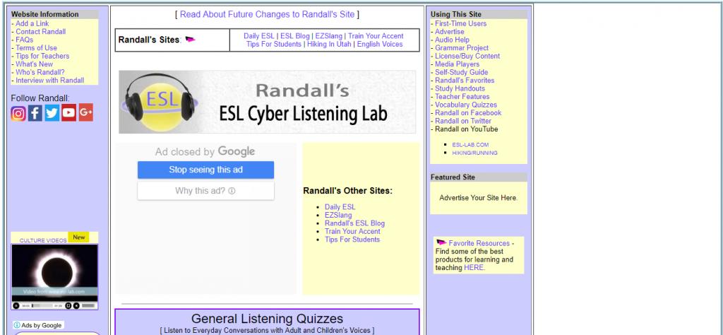 Randall's ESL Lab
